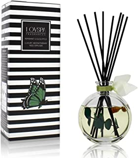 LOVSPA Peppermint & Eucalyptus Unwind Luxury Home Fragrance Diffuser Reeds Set | A Blend of Fresh Peppermint Sprigs, Aromatic Eucalyptus & Creamy Vanilla