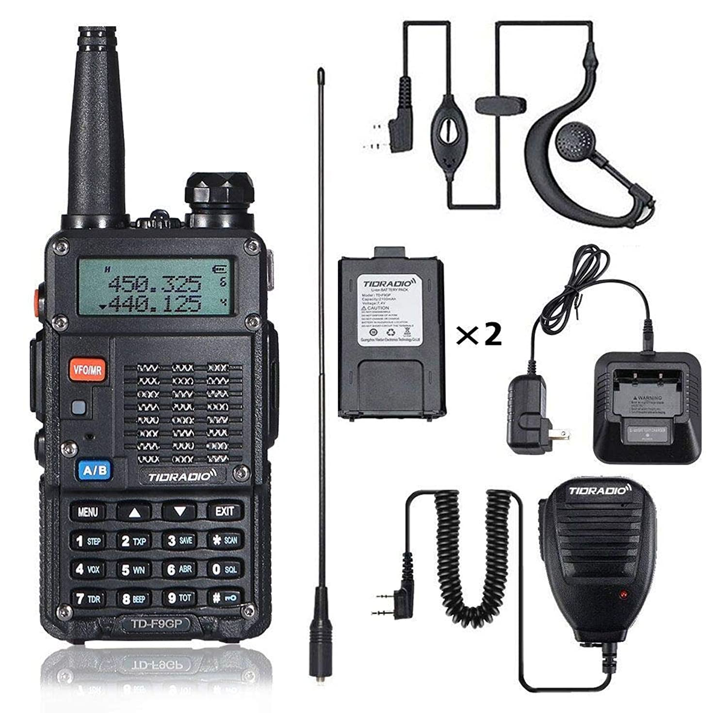 8Watt Ham Radio Handheld (UV-5R 3rd Gen) Uhf VHF Radio 2 Way Radio High Power Dual Band Walkie Talkies