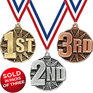 Crown Awards Set of 1st, 2nd & 3rd Place Medals-2