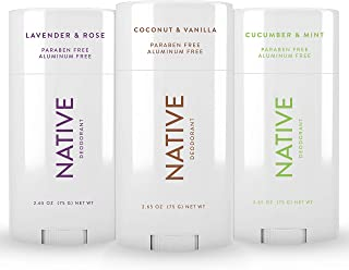 Native Deodorant - Natural Deodorant For Women and Men - 3 Pack - Aluminum Free, Free of Parabens and Sulfates - Vegan, Co...