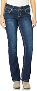 "WallFlower Women's Juniors Luscious Curvy Stretch Denim Bootcut Jeans (30""-32""-34"" Inseam)"
