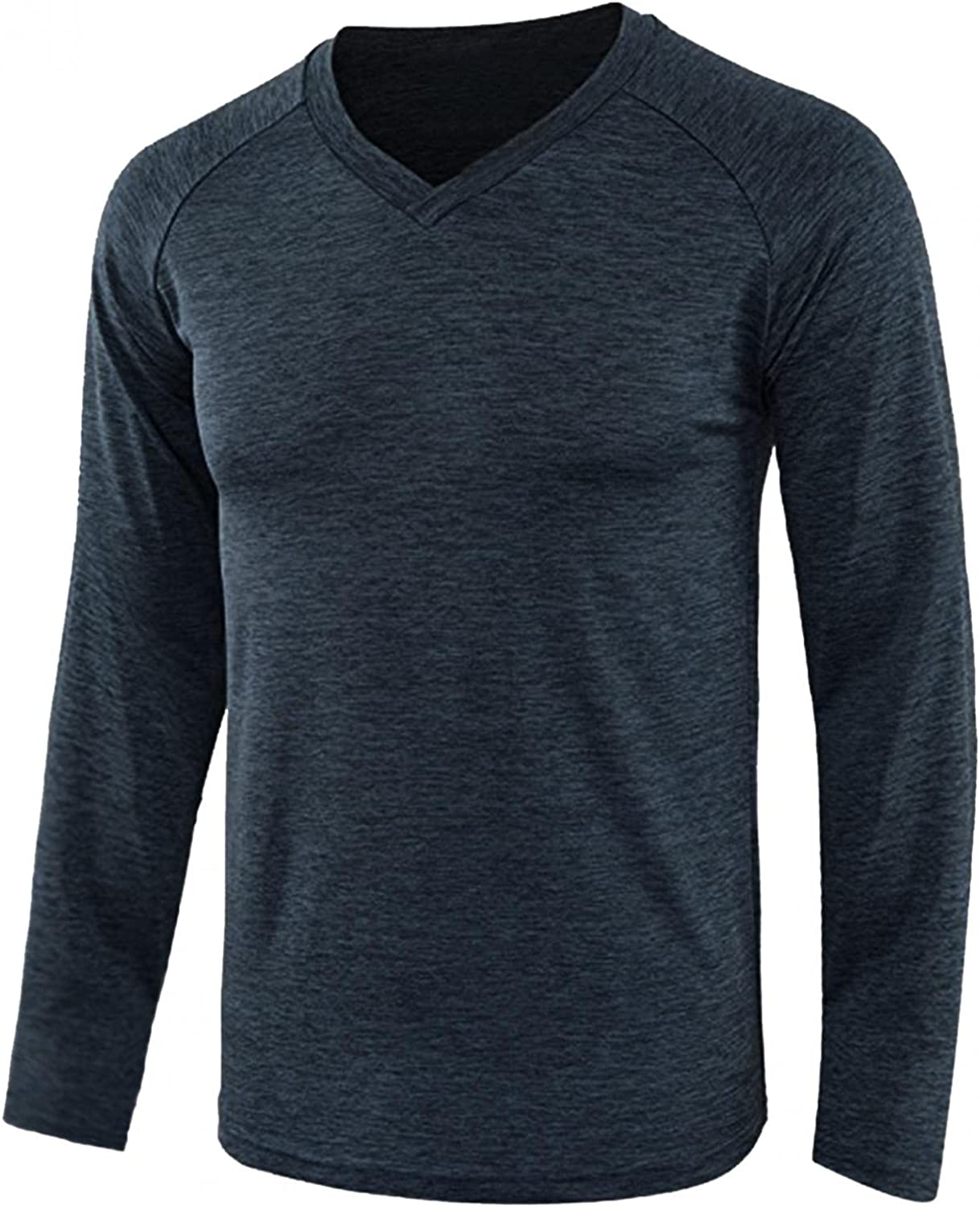 WoCoo Mens Pullover Shirts Soft Cozy V-Neck Sweatershirts Lightweight Breathable Tops Casual Loose Blouse