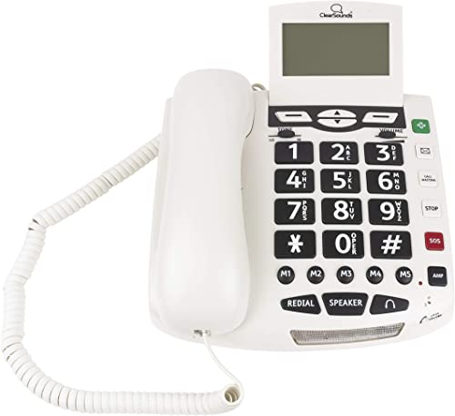 wholesale ClearSounds outlet online sale CSC600ER Amplified Corded Phone with Wireless SOS Alarm Pendant and Remote new arrival Audio Monitoring - Single-Line Operation, AC Powered outlet sale