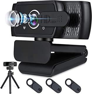 Webcam with Microphone for Desktop,1080P HD USB Webcam Live Streaming Laptop PC Computer Web Camera for Video Calling Conf...