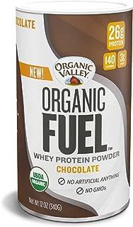 Organic Valley Fuel Whey Protein Powder, Chocolate, 12 oz