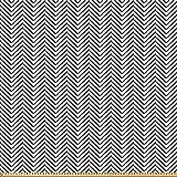 ABAKUHAUS Moderno Tela por Metro, Zig Zag Triángulo De Impresión, Microfibra Decorativa para Artes y Manualidades, 2M (230x200cm), En Blanco Y Negro