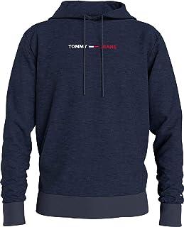 Tommy Jeans TJM Straight Logo Hoodie Sweat-Shirt de Sport Homme