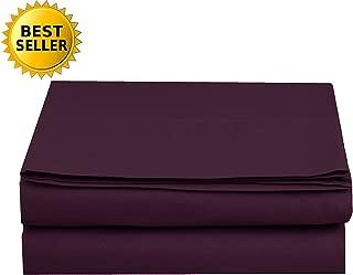 Luxury Flat Sheet Elegant Comfort Wrinkle-Free 1500 Thread Count Egyptian Quality 1-Piece Flat Sheet, King, Purple