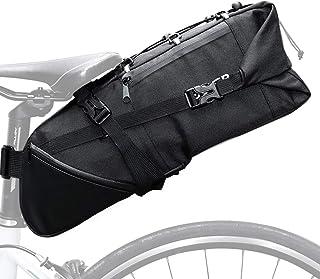 Lixada Bolsa de Sillín para Bicicleta 3-10 L Bolsa Manillar Bolsa Ajustable Desmontable para MTB Bicicleta de Carretera
