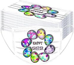 TEGT Mondkapjes voor Pasen, uniseks, adembescherming, neusbescherming, zijde, ademend, antibacterieel, zonwering, koude- e...