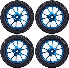 OhhGo Llanta de Aleación de 75 Mm RC Neumático de Rally Azul para WL 1/18 A959 A979 A969 Racing Car