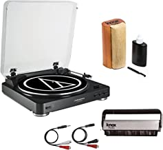 Audio-Technica AT-LP60USB Turntable w/Knox Vinyl Brush Cleaner and Cleaning Kit