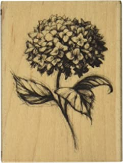 Inkadinkado Hydrangea Flower Mounted Rubber Stamp for Card Making and Scrapbooking, 1pc, 2.25''L x 3''W