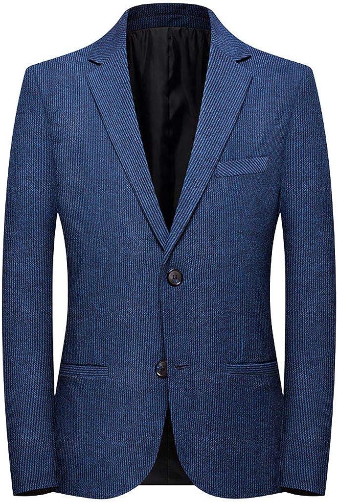 Fashion Mens Blazers Mens Plaid Casual Suit Lapel Slim Fit Stylish Blazer Coat