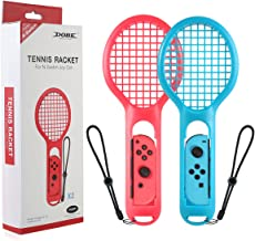 Tennis Racket for Nintendo Switch Joy-Con Controller, Wallfire Accessories for Nintendo Switch Game Mario Tennis Aces - 2 Pack (Blue & Red)