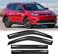 Audrfi 4pcs Side Window Deflector Window Visors for 2013-2018 Toyota RAV4 Sun/Rain Guard Ventvisor