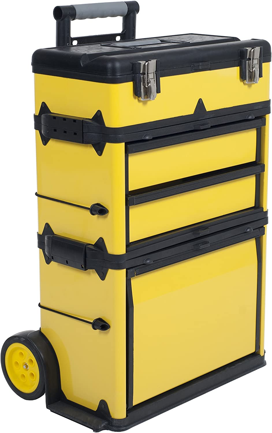 Stackable Rolling Tool Box Organizer with Telescopic Comfort Grip ...