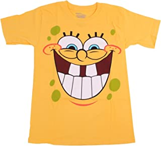 Nickelodeon Spongebob Squarepants Yellow Big Face Smiling T-Shirt