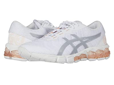ASICS Kids Gel-Quantum 180 5 GS (Big Kid) (White/Piedmont Grey) Girl