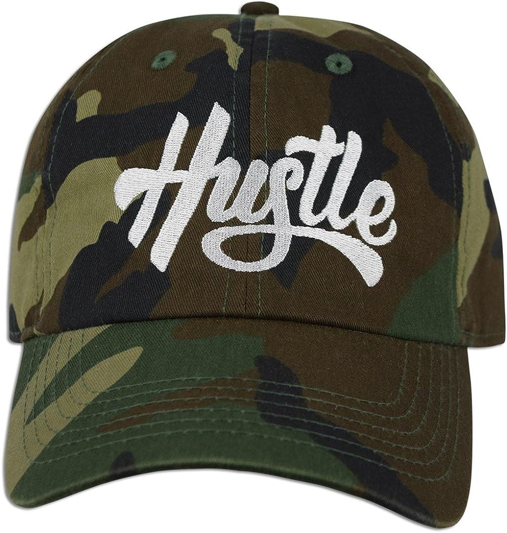JLGUSA Hustle Embroidery Dad Hat Cotton Baseball Cap