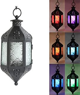 Decorative Lanterns with Color Changing LED Fairy Lights, Hanging