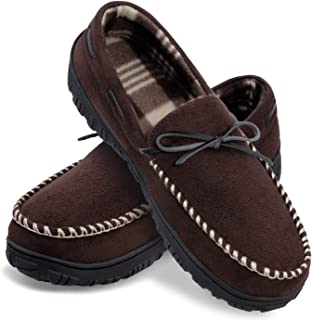 Mens Slippers Memory Foam Slip on House Shoes