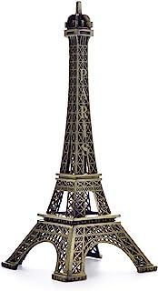 BESMELYIN Eiffel Tower Decor, 7 Inch (18cm) Metal Paris Eiffel Tower Statue Figurine Replica Drawing Room Table Decor Jewe...