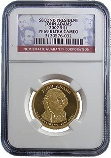 2007 S John Adams Presidential Dollar NGC PF69