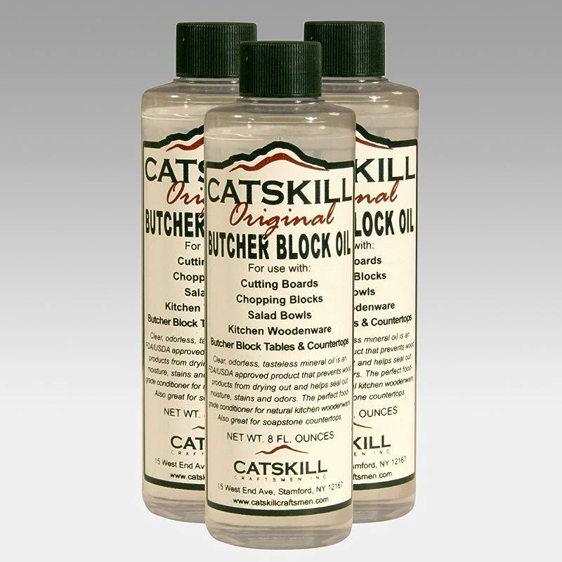 Set Of 3 8oz Bottles Of Butcher Block Oil