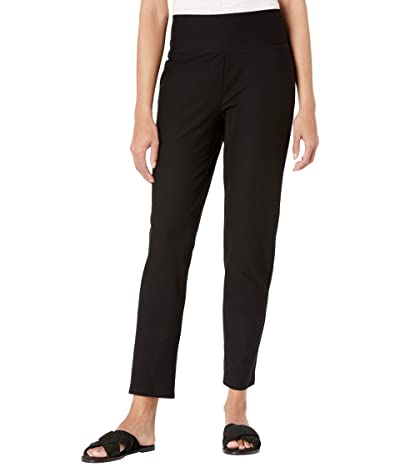 Eileen Fisher High-Waist Slim Pants (Black) Women