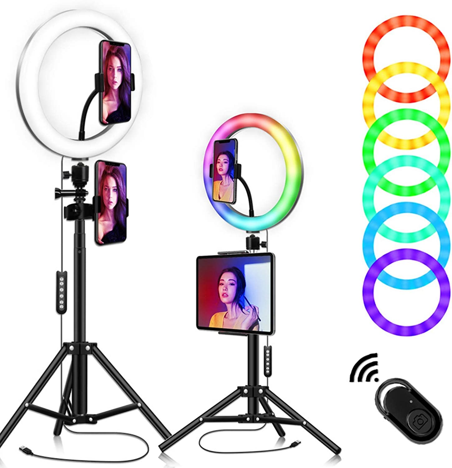 """YESBAY 10.2"""" Selfie Ring Light A RGB Super special price 7 Colors with Sales results No. 1"""