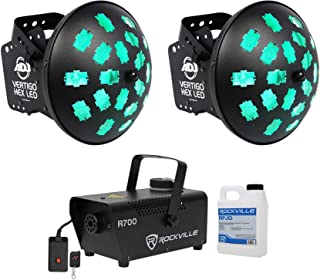 American DJ VERTIGO HEX LED 12 Watt 6-Color Dance Floor Effect Light+Fog Machine