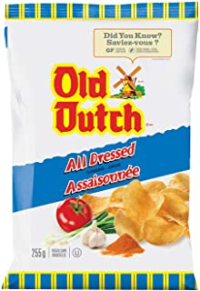 Old Dutch All Dressed Potato Chips {Imported from Canada.} - Large Bag 255 grams