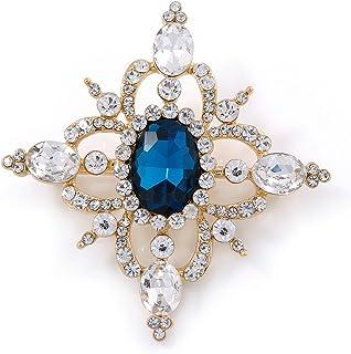 AILUOR Ton Or Antique /émail Oiseau Colibri Multi Couleur Cristal autrichienne Broche Bijoux