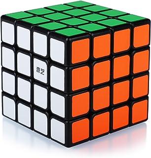 Speed Cube 4x4 4x4x4 Magic Puzzle Cube de Vitesse Magique Cadeau de Vacances pour Enfants Adultes (Autocollants PVC)