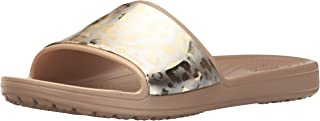 Crocs Women's Sloane Graphic Metallic Slide US
