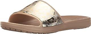 Crocs Women's Sloane Graphic Metallic Slide US