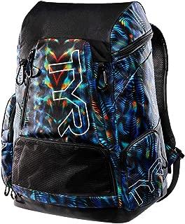 TYR LATBPGEN Men's Alliance 45L Backpack-Genesis Print, Blk/Blu/Green - One Size