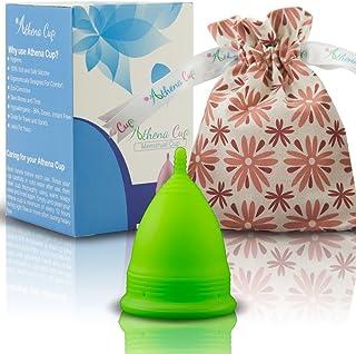 comprar comparacion Athena Copa Menstrual – La copa menstrual más recomendada - Incluye una bolsa de regalo - Talla 2, Verde liso - ¡Ausencia ...