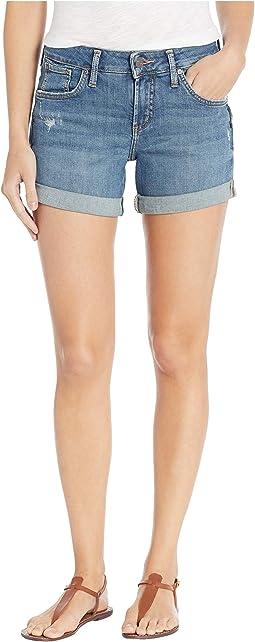 Boyfriend Mid-Rise Shorts in Indigo L53608SJL354