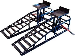 Hydraulic Vehicle Ramps 10,000lb. Capacity Portable Car Repair