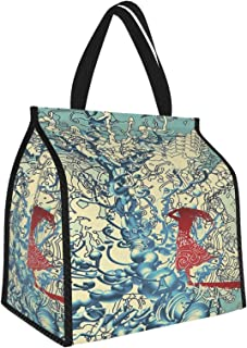 Y-shop Fantasy Art House Decor Girl Walking Into Complex Backdrop Lonely Troublesome Minds Theme Blue Red Picnic Freezer B...