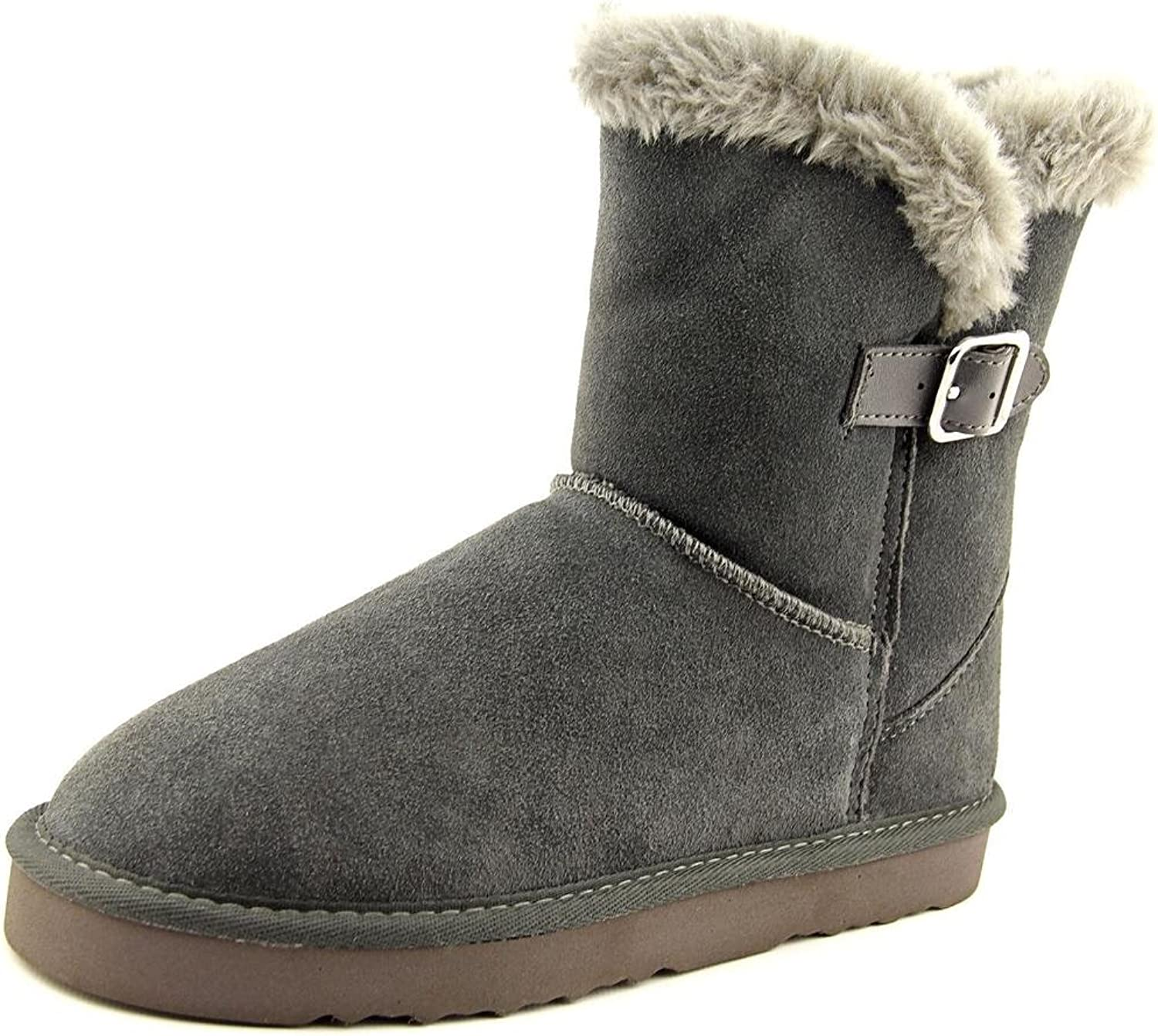 Style & Co. Womens Tiny 2 Leather Closed Toe Ankle Cold Weather, Grey, Size 8.0