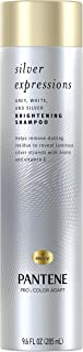 Pantene Silver Expressions Brightening Purple Shampoo for Gray Hair for Women, Paraben Free, 9.6 Fl Oz.