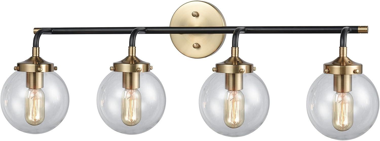 Elk Lighting 14429 4 Superior Vanity Cheap super special price Black Gold Matte Light Antique