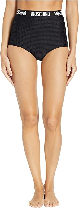 High-Waisted Bottoms with Moschino Wrap Around Band