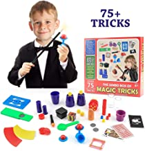 Magic Toys Kit Set with Wand and 75 Magic Tricks for Kids Boys Girls,Best Age 6 7 8 9 Year Old