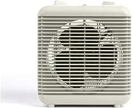 Pequeño calefactor para baño y cuarto de baño, bajo consumo y ventilador pequeño 2000 W 2 niveles de calor calefacción eléctrica móvil termostato asa protección contra sobrecalentamiento color blanco