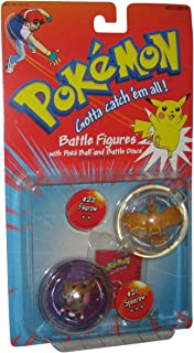 Pokemon Battle Figures with Poke` Ball and Battle Discs - #21 Spearow and #22 Fearow by Hasbro