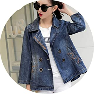 Female Short Paragraph Clothing Suit Collar Slim Jacket Cowboy Clothing T503